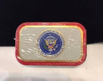 Presidential Altoids tin