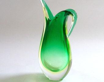 1950s Flavio Poli for Seguso Teardrop Sommerso Vase
