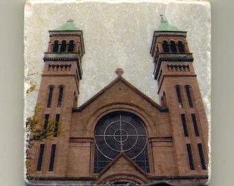 St. Vincent DePaul Church in Lincoln Park -  Original Coaster