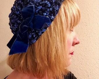 1950's Vintage Saks Fifth Avenue Sequin Hat