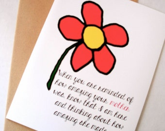 Thinking of You Card - Sympathy Card - Amazing Mother