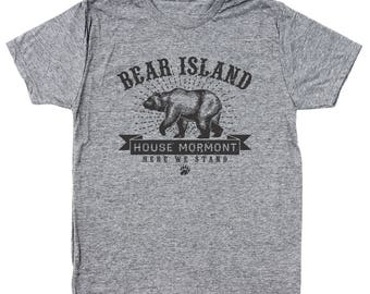 Bear Island House Mormont Got Game Of Thrones Story Men's Tri-Blend T-Shirt DT1903