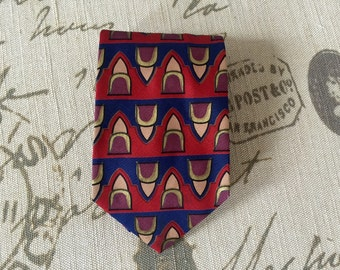 Vintage Mens Mulberry Silk Cravat Necktie Ship Free