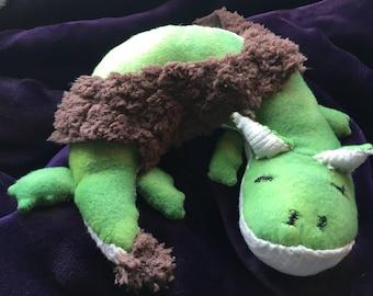 Stuffed animal Dragon Dallas The Sleeping Dragon Hand Sewn