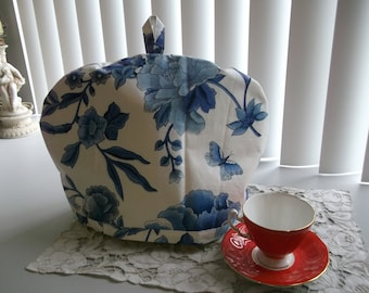 Tea Cosy or Cozy Blue and White Tea Pot Cosy Insulated Tea Pot Cozy Tea Pot Cover