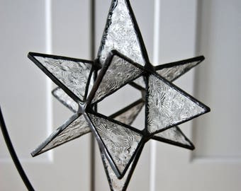 Stained Glass Moravian Star Sun Catcher