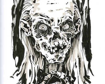 The Cryptkeeper original drawing