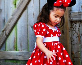 Minnie Mouse Dress - Empire Waist Size 2T-12