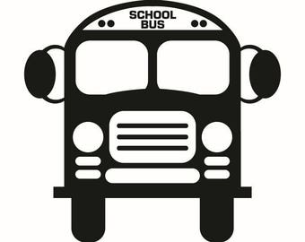 School Bus #1 Elementary Middle High School Education Driver Children Kid Student .SVG .EPS .PNG Digital Clipart Vector Cricut Cut Cutting