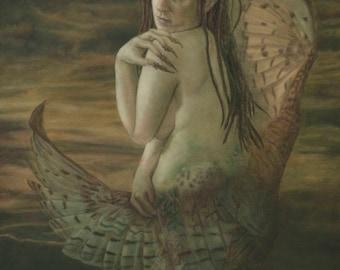 Blodeuwedd Celtic Pagan Fantasy Fine Art Giclee Canvas Print
