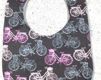 Bicycle Baby Bib - bike - infant bib  - dribble bib - baby girl bib - baby shower gift - bicycle
