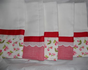 Burp Cloths, Red Gingham Set