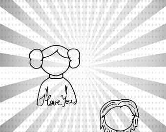 I Love You...I Know Digital Stamp Set