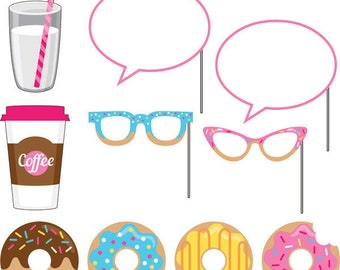 My Delightful Donut Party Photo props / donut theme party / donuts / Donuts party / Photo props /photo booth