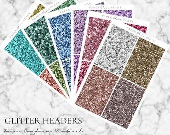 Glitter Headers - MATTE | Erin Condren Vertical Life Planner