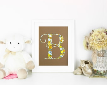Nursery Initials Button Art Monogram Swarovski Rhinestones Custom Monogram Great For Wedding Gift or Baby Shower Gift button letters