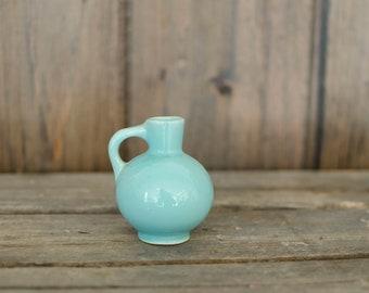 Vintage miniature blue vase, mini vase, mini blue vase, bud vase, window vase