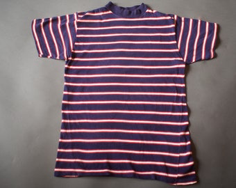 Vintage 1960s Striped Surfer T Shirt / Surf Skateboarder T Shirt