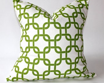 Chartreuse Green Gotcha Geometric Pillow Cover- 18x18, 16x16, 14x14 or 12x12