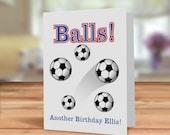 Sports fan card, Balls an...