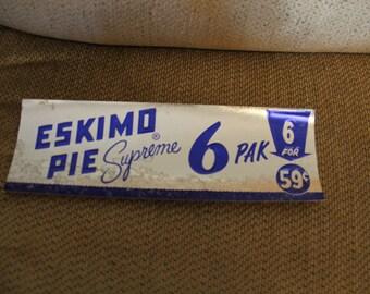 Vintage NOS Eskimo Pie Shelf Talker Sign Poster