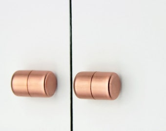Chunky Copper Knob, Contemporary Drawer Pull, Handle, Cabinet knob. Kitchen Cabinet knob. Kitchen Door Handle.-copper kitchen-handles