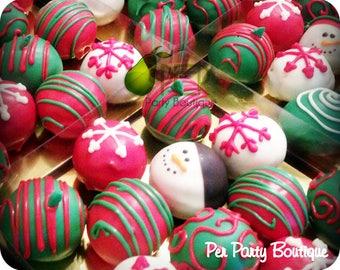 Merry Christmas Cake Balls Christmas Gift