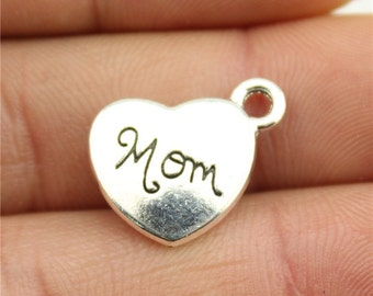 4 Mom Charms, Antique Silver Tone (1K-245)