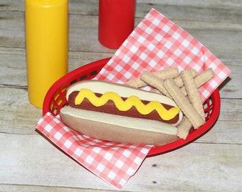 Felt Hotdog and Fries Set