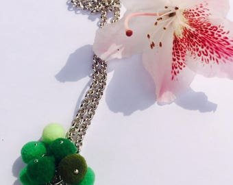 Aluminum Pompom necklace