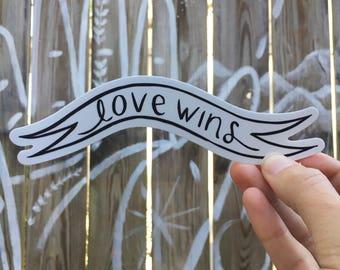 Love Wins sticker large
