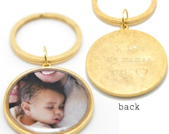 Baby Photo Keychain | Custom Gift Keychain | Hand Stamp Key Ring | Fathers Day Gift | Baby Photo Key Ring | Gifts for Dad | Gift for Parent