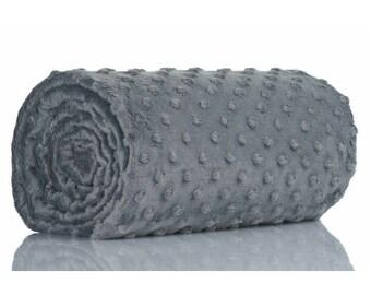 Half a metre coupon 50 minky fabric x 160 cm grey velvet fabric / plush