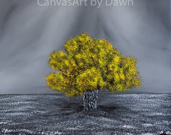 The Little Old Olive Tree - Professional, Unframed, Open Edition Prints of my Original Acrylic Landscape Painting of an Old Olive Tree