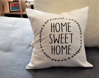 Home Sweet Home Throw Pillow Accent Pillow Home decor House Wamring Gift Wedding Gift Home Sweet Home Throw Pillow