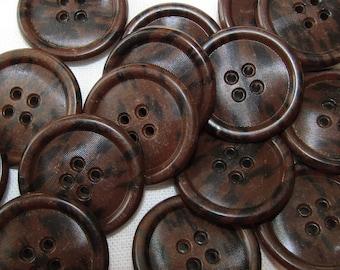 Vintage Composition Chunky Brown Coat/Jacket/Suit Buttons Vintage Supplies