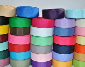 "170 yards 5/8""wholesale grosgrain ribbon solid color"