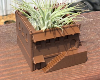 AzTec Villa with Steps Air Plant / Succulent Planter