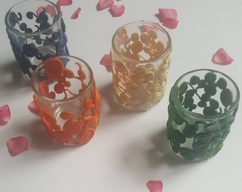 Votive Candles / Element Magic / Elements / Polymer Clay Candle Holder / Votive Candle Glass / Gifts for Her / Magic  / Witchcraft