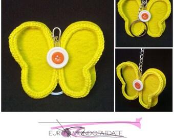 Crochet keychain, Keychain butterfly