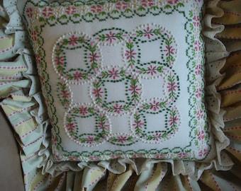 Retro Candlewick pillow