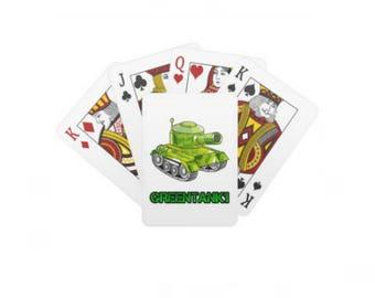 GREENTANK1 Standard Deck Of Playing Cards