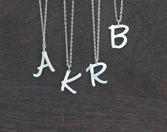 Personalized letter Necklace custom large Initial Necklace Letters alphabet Necklace Monogram Necklace bridesmaids christmas gift