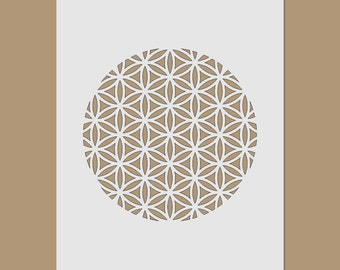 The Flower of Life - Sacred Geometry Stencil