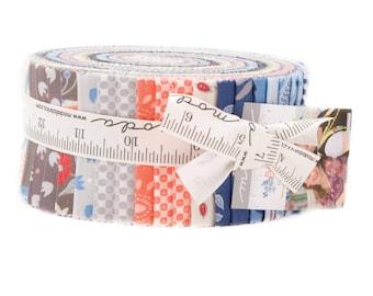 "Moda BLOOMSBURY Jelly Roll 47510JR 40 2.5"" Fabric Strips By Frannie & Jane"