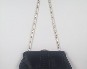 Vintage 1960s Markay Navy Blue Convertible Clutch
