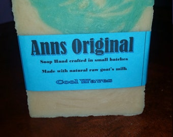Ann's Original All Natural Goats Milk Soap - Cool Waves
