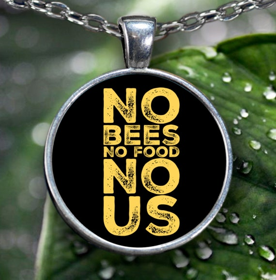 Bee lovers gift no bees no food no silver plated necklace us beekeepers gift