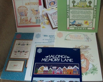 Seven Designs by Gloria & Pat Cross Stitch Pattern Leaflets - Good Selection