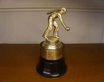 Vintage 1940's Mens' Bowling Trophy
